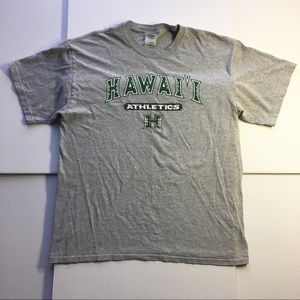 University Of Hawaii Gray Athletic T-Shirt (Large)